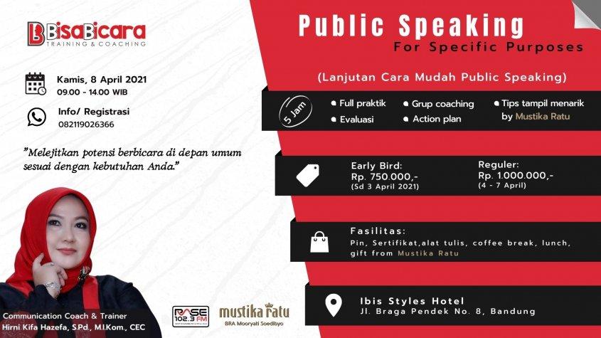 public speaking for specific purposes